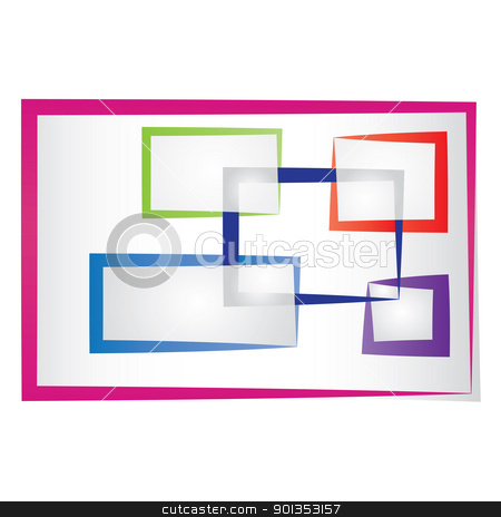 abstract colored frames stock vector clipart, Set of abstract colored frames. by antkevyv