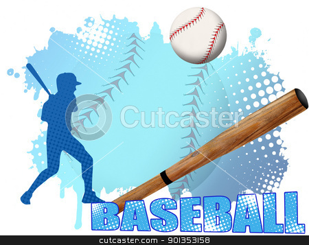 Baseball poster stock vector clipart, Baseball poster background, vector illustration by radubalint