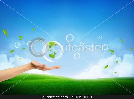 Green earth concept stock photo, concept of a fresh new green earth by Haider Azim