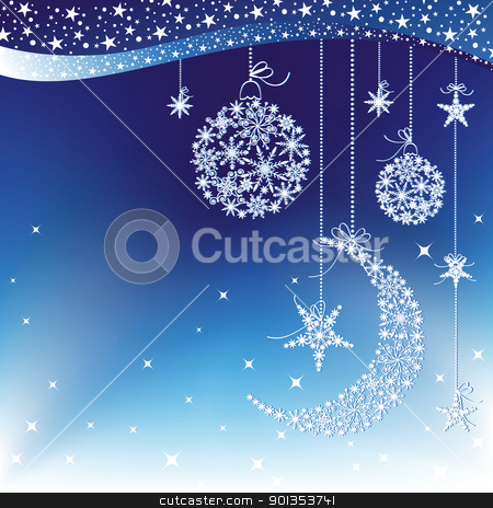 Merry Christmas greeting card stock vector clipart, Merry Christmas greeting card by meikis