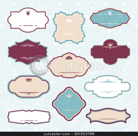 set of royal decorative frames stock vector clipart, set of royal decorative frames vector illustration by SelenaMay