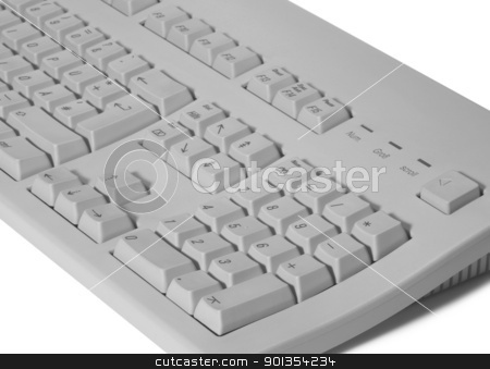 key pad detail stock photo, studio photography of a grey computer key pad in white back by prill