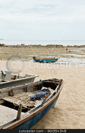 Fishing Boats on the beach. stock photo, Fishing Boats on the beach near the ocean in view. by Na8011seeiN