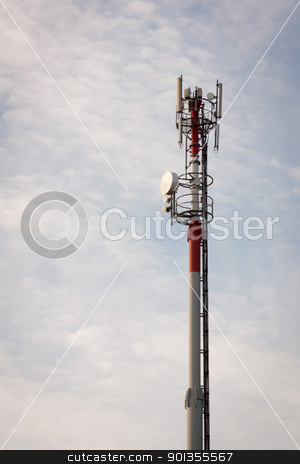 Communications Tower stock photo, Communications tower used for mobile devices in Portugal by Paulo M.F. Pires