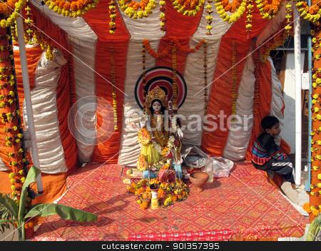 Hindu Goddess Durga stock photo, Hindu Goddess Durga by Zvonimir Atletic