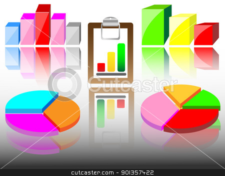 Business charts stock vector clipart, Business charts by vician