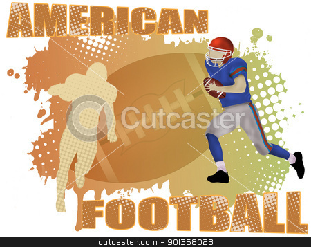 American football poster stock vector clipart, American football poster background, vector illustration by radubalint