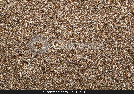 chia seed background stock photo, background of organic chia seeds rich in omega-3 fatty acids by Marek Uliasz