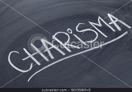charisma word on blackboard stock photo, charisma word in white chalk handwriting on blackboard by Marek Uliasz