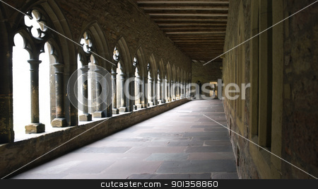 cross-coat in Colmar stock photo, inside-detail of a cloister with cross-coat in Colmar (Alsace/France) by prill