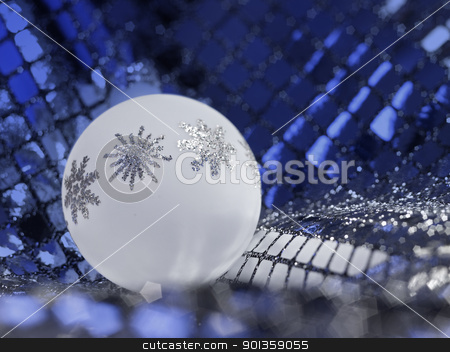 Christmas bauble stock photo, Christmas bauble in decorative back by prill