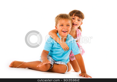 brother and sister stock photo, brother and sister by ambrophoto