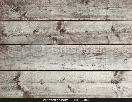 wooden planks stock photo, full frame background of rundown wooden planks by prill