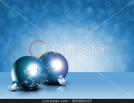 Modern styled blue christmas decor. stock photo, Modern styled blue christmas decor, greeting card, with copy space by exvivo