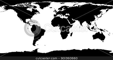 World Map Texture stock photo, World Map Texture - black illustration by derocz