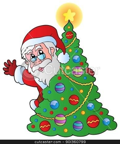 Christmas Santa Claus 4 stock vector clipart, Christmas Santa Claus 4 - vector illustration. by Klara Viskova