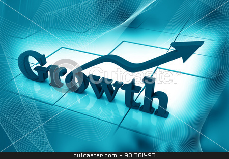 Earning growth stock photo, The symbol representing earning growth in digital color background by dileep