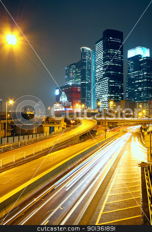 urban city sunset stock photo, urban city sunset by Keng po Leung