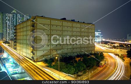 modern urban city at night  stock photo, modern urban city at night  by Keng po Leung
