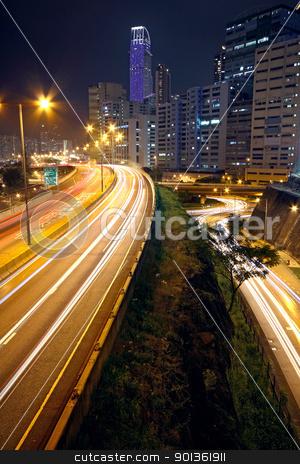 urban downtown night, hong kong stock photo, urban downtown night, hong kong by Keng po Leung