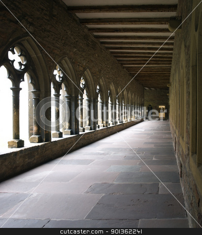 inside a cross-coat in Colmar stock photo, detail of a cloister with cross-coat in Colmar (Alsace/France) by prill