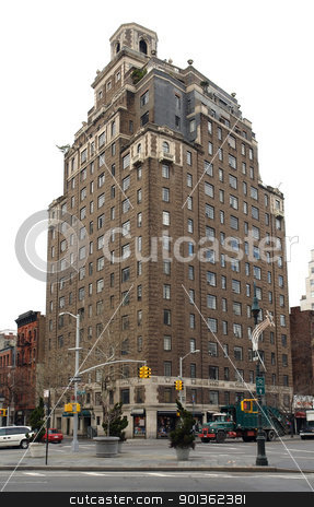 building in New York stock photo, a building and street scenery somewhere in New York (USA) by prill