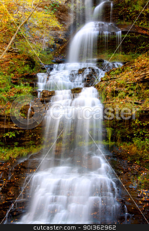 Cathedral water falls stock photo, Scenic Cathedral water falls in West Virginia by Sreedhar Yedlapati