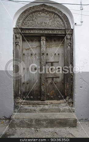 door in Zanzibar stock photo, door in Stone Town (Zanzibar) by prill