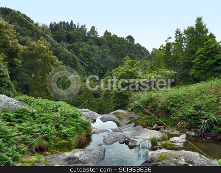 idyllic natural scenery stock photo, idyllic natural scenery at Sao Miguel Island by prill