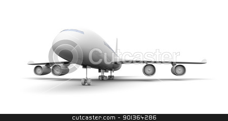 Generic Airplane stock photo, 3D rendered Illustration.  by Michael Osterrieder