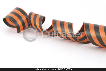 George ribbon over white stock photo, George ribbon over white. Shallow DOF. by Sergei Devyatkin