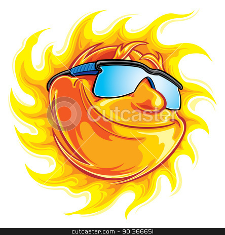Sunshine stock vector clipart, Sunny day by SlipFloat