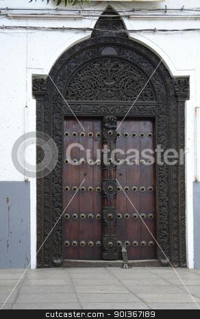door in Zanzibar stock photo, door in Stone Town (Zanzibar) by prill