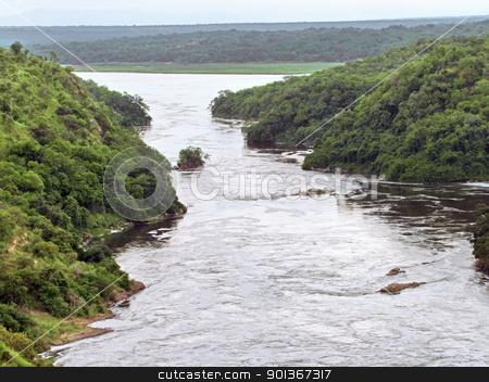 around the Murchison Falls in Uganda stock photo, high angle view around the Murchison Falls in Uganda (Africa)  by prill