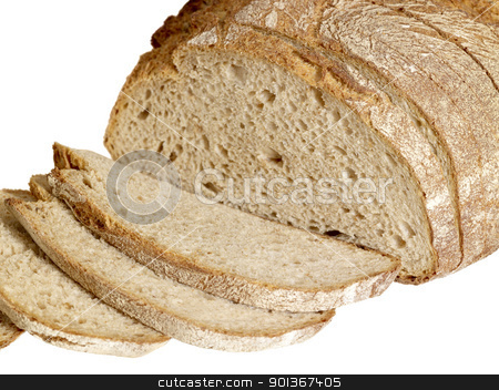 bread stock photo, detail of a brown bread by prill