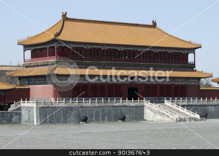 Forbidden City in Beijing stock photo, scenery inside the Forbidden City in Beijing (China). The Forbidden City was the imperial palace from the Ming Dynasty to the end of the Qing Dynasty by prill