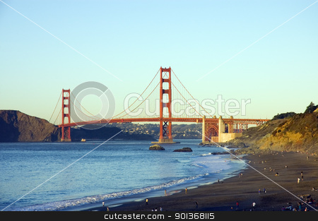 Golden gate bridge from Baker beach stock photo, Golden gate bridge from Baker beach by Jeffrey Banke