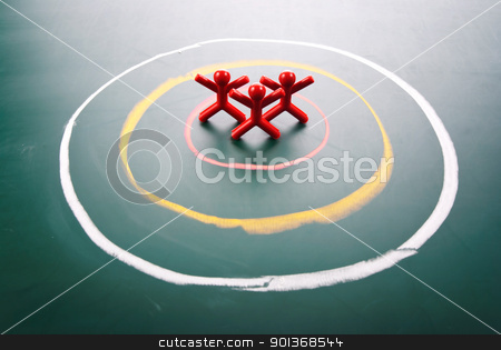 Target concept, people be selected. stock photo, Target concept. People be selected in the center of circle. by Lawren