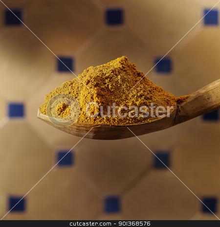Chillie powder stock photo, Spoon with chillie powder by Han van Vonno