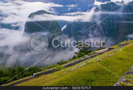 Machu Pichu stock photo, View of the archeological site of Machu Pichu by Kobby Dagan