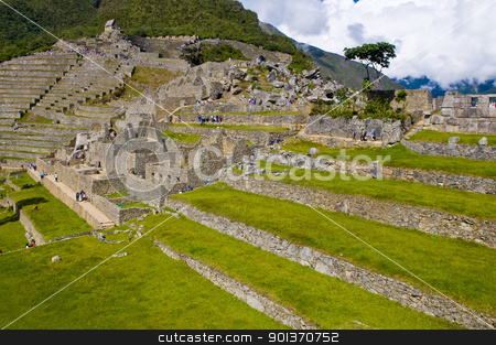 Machu Pichu stock photo, View of the archeological site of Machu Pichu by Kobby Dagan