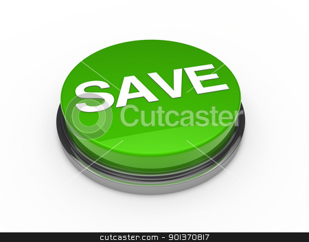 button green chrome save  stock photo, 3d button green chrome save white text by d3images