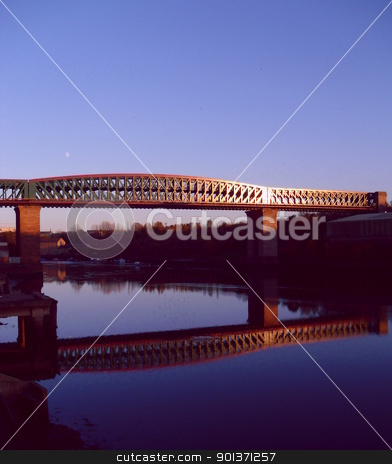 Queen Alexandra Bridge stock photo, The Queen Alexandra Bridge is a road traffic, pedestrian and (former) rail bridge spanning the River Wear in North East England, linking the Deptford and Southwick areas of Sunderland. by Real Pictures