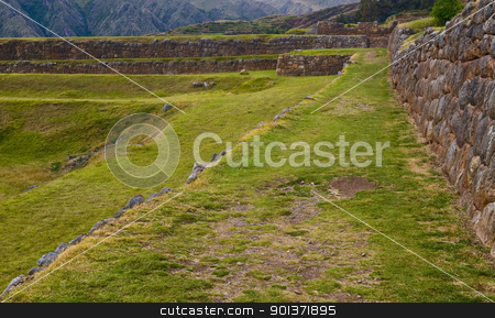 Chinchero , Peru stock photo, Inca ruins in the Sacred valley , Chinchero Peru by Kobby Dagan
