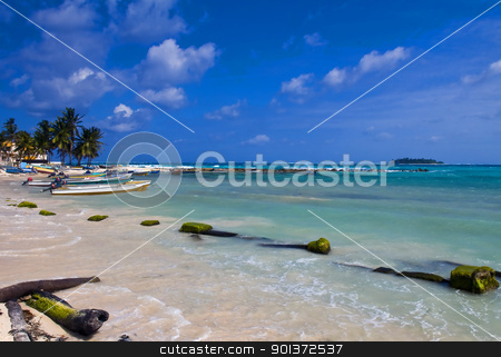 San Andres Island , Colombia stock photo, Tropical beach on the Caribbean island of San Andres , Colombia by Kobby Dagan