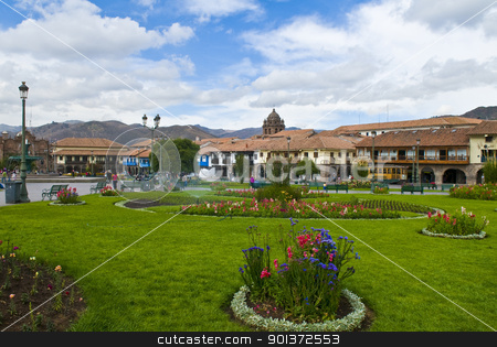 Cusco stock photo, The Plaza the Armas, a main tourist attraction in Cusco , Peru the photo was taken on May 25 2011 by Kobby Dagan
