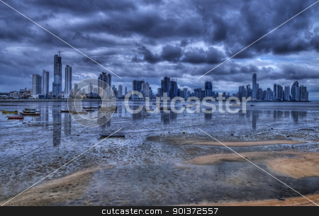 Panama city stock photo, View of the coastline of Panama city by Kobby Dagan
