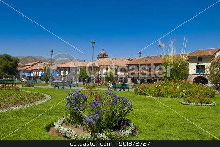 Cusco stock photo, The Plaza the Armas , a main tourist attraction in Cusco , Peru the photo was taken on May 25 2011 by Kobby Dagan
