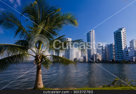 Boca grande - Cartagena de Indias stock photo, View of