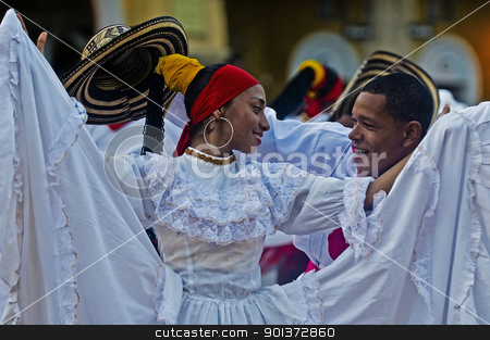 Cartagena de Indias celebration stock photo, Catagena de Indias , Colombia - December 22 : Dancers in the celebration for the presentation of the new city symbol held in Cartagena de indias on December 22 2010 by Kobby Dagan